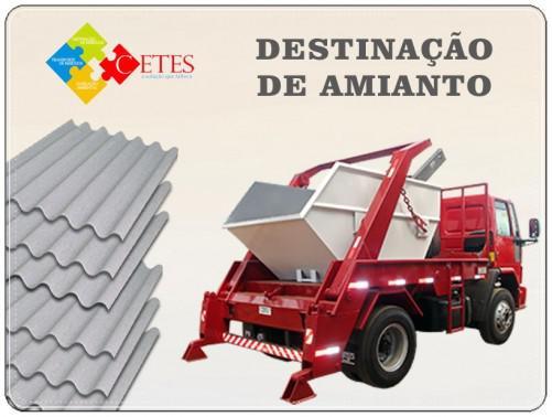 Descarte de telhas de amianto