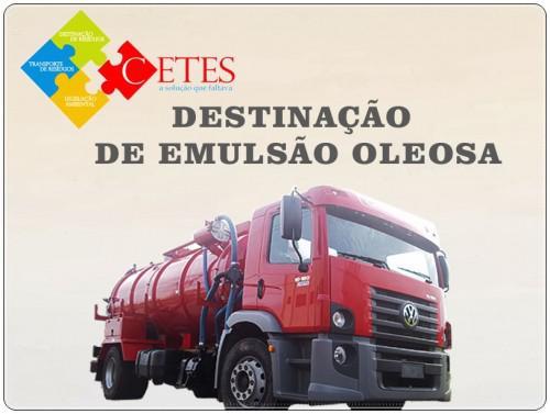 Destinação de emulsão oleosa