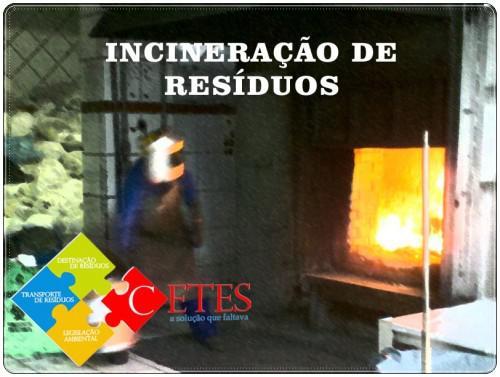 Incineração de resíduos de saúde